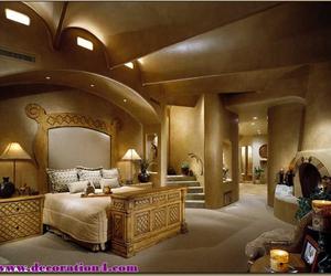 bedroom, big, and luxury image