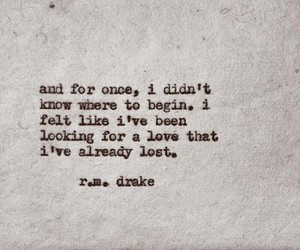 looking, r.m.drake, and lost image