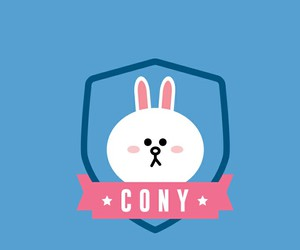 background, cony, and blue image