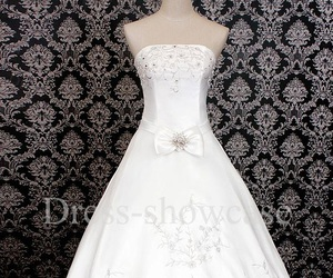 wedding gown, white wedding dress, and dream wedding dress image