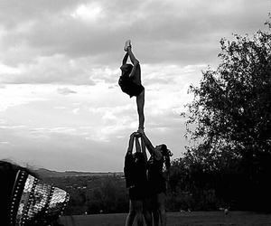 b&w, stunt, and cute image