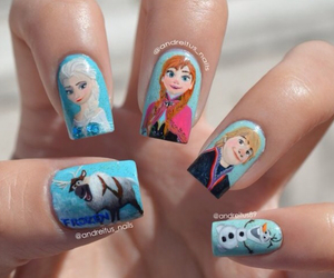 nails, frozen, and disney image