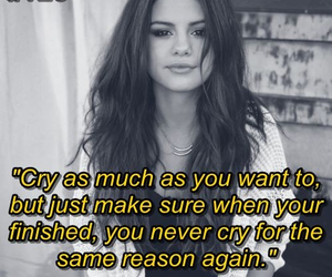 quotes, selena gomez, and cry image
