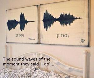 I DO, wedding, and sound waves image