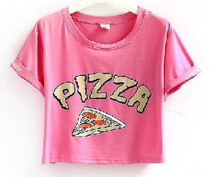 pink and pizza image
