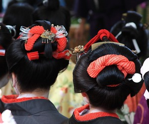 festival, hair, and japan image