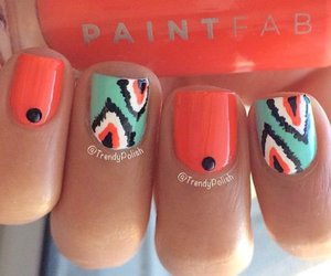 nails, orange, and blue image