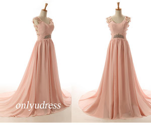 gorgeous scoop prom dress and evening dress with court image