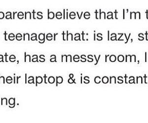 teenager, Lazy, and parents image