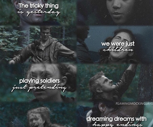 rue, peeta, and the hunger games image