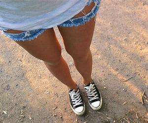 fashion, shorts, and converse image
