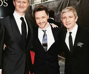james mcavoy, Martin Freeman, and sherlock image