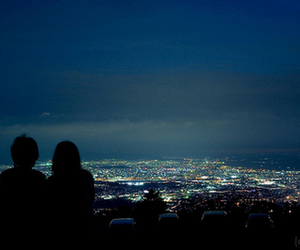 love, city, and night image