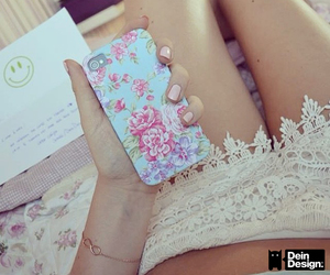 beautiful, case, and flower image