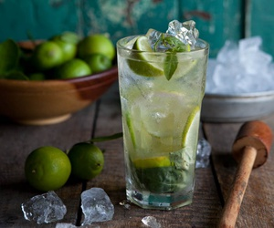 drink, lime, and ice image