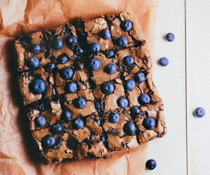 food, chocolate, and blueberry image