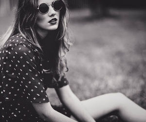 girl, hipster, and black and white image