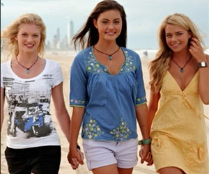 cariba heine, h2o just add water, and indiana evans image