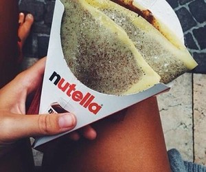 chocolate, nutella, and girl image