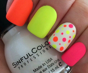 nails, neon, and pink image