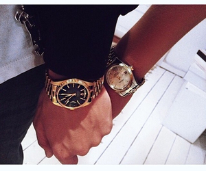love, couple, and watch image