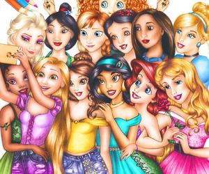 disney, princess, and selfie image
