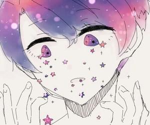 anime, stars, and kawaii image
