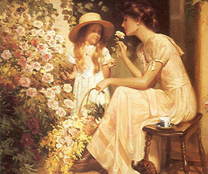 19th, child, and flowers image