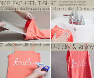 diy, shirt, and bleach image