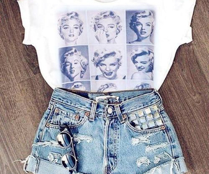 fashion, outfit, and Marilyn Monroe image