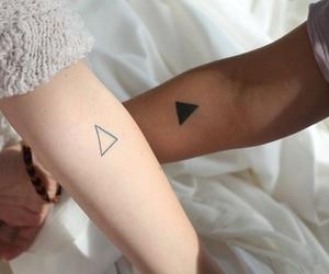 tattoo, triangle, and couple image