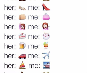 her, me, and emoji's image
