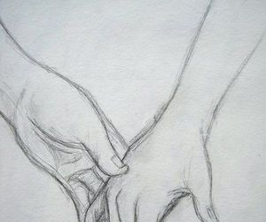 awh, holding hands, and sketch image