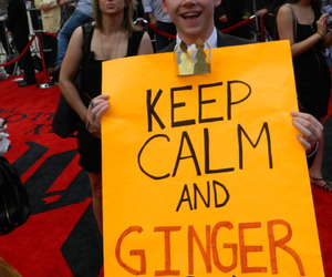 ginger, rupert grint, and keep calm image