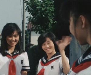 gif, girl, and japanese school girl image