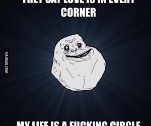 circle, life, and foreveralone image