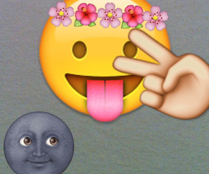 flower, hipster, and moon image