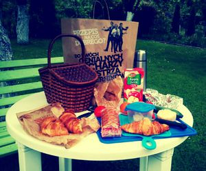 basket, breakfast, and picnic image