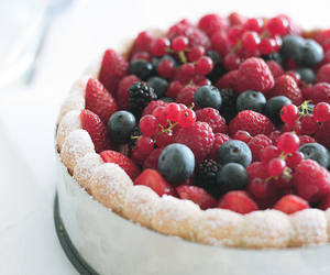 cake, fruit, and berries image