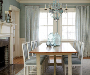 chandelier, modern house, and turquoise color image