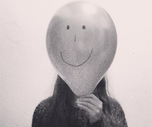 balloon, black and white, and me image