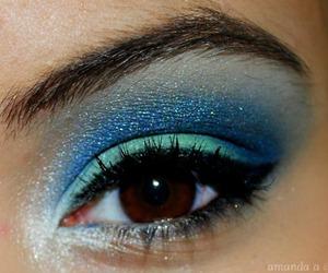 eye, eye shadow, and mascara image