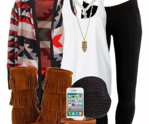 accessories, cardigan, and fashion image