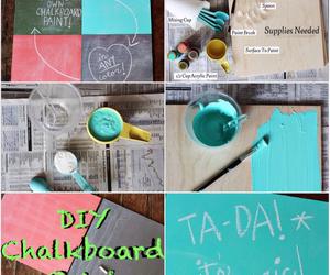 diy and chalkboard image