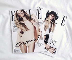 Elle, magazine, and white image