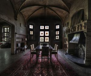 abandoned, dining room, and house image