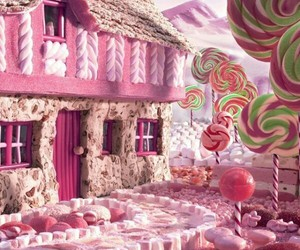 candy, house, and pink image