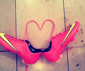 girl, heart, and nike image