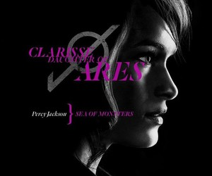 percy jackson, clarisse, and sea of monsters image