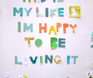 happines, typography, and life image